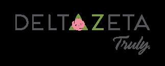 Delta Zeta Rose Icon White Classic Round Sticker | Zazzle